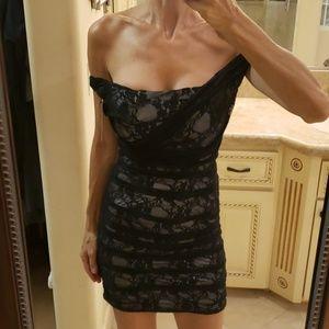 Express lace and silk dress, Sz 0